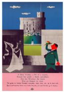 London Transport conducted coach tours to Windsor, by John Bainbridge, 1956. Travel Poster Print